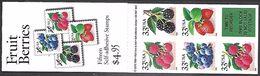 US  1999   Sc#BK276A  Complete Booklet Of 15 33c Berries   MNH**  Face $4.95 - Markenheftchen