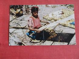 Guatemala Native Girls Santiago  As Is Center Crease--- El Salvador Stamp & Cancel  Ref 2909 - Guatemala