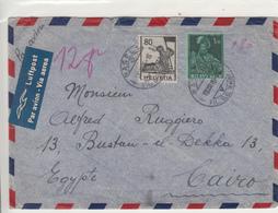 Switzerland / Airmail / Egypt - Switzerland