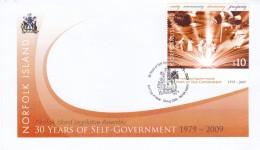 Norfolk Island 2009 Self Government Sc 989 FDC - Norfolk Island