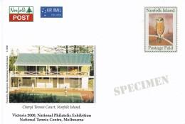 Norfolk Island 2000 Tennis Specimen Postcard - Norfolk Eiland