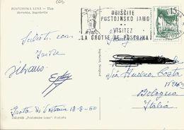 TIMBRO SU CARTOLINA: OBISCITE POSOJNSKO JAMO 1960 (206) - Slovenia