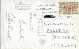 TIMBRO SU CARTOLINA: AIR AFRIQUE LA COMPAGNIE DE L'AFRIQUE / PILAGE DU MIL (208) - Senegal (1960-...)