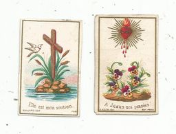 Image Pieuse , Religieuse , LOT DE 2 MINI IMAGES RELIGIEUSES - Santini