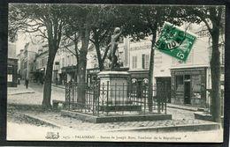 CPA - PALAISEAU - Rue Et Statue De Joseph Bara - Palaiseau