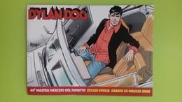 Cartolina DYLAN DOG - 40° Mostra Fumetto Reggio Emilia - 22 Maggio 2008 - Brindisi - Stripverhalen