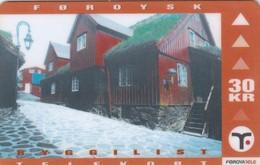 Faroe Islands, OD-019, Old Houses, Tinganes, Only 13.890, 2 Scans. - Faroe Islands