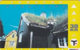 Faroe Islands, OD-020,  30 Kr , Faroese Architecture, Reyn, 2 Scans. - Faroe Islands