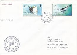SOUTH GEORGIA - KING EDWARD POINT - 1989 , Brief Nach Helmstadt - MSV STENA SEASPREAD - Möwe , Pinguin - Südgeorgien