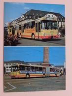 OmniBUS Typ DB 0-305 G ( HEAG - ) Anno 19?? ( Zie Foto Details ) 2 Karte ! - Bus & Autocars