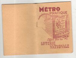 Metro Pratique Loterie Nationale Paris 75 Lignes De - Dépliants Touristiques