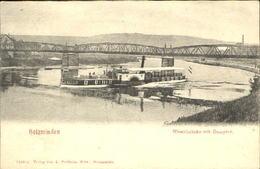 40401475 Holzminden Weser Holzminden Bruecke Dampfer X 1910 Holzminden - Holzminden