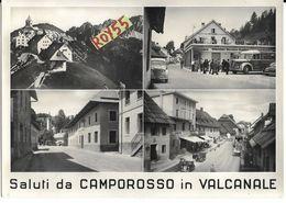 Friuli Venezia Giulia-udine-camporosso In Valcanale Vedute Animatissime Anni 50 Saluti Da Camporosso - Andere Steden