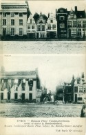 BELGIO  FLANDRE OCCIDENTALE  YPRES  Maisons Place Vandenpeereboom Avant Et Apres Le Bombardement - Ieper