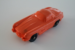 Vintage VINYL TOY CAR : Maker Tompte Lardal Stavanger Norway - Nr 5 Mercedes Benz SL300 - 9cm - Norway - 1960 - Rubber - Cars & 4-wheels