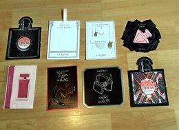 Échantillons Sur Carte (patchs) De Différents Parfumeurs Dont Yves St Laurent, Lancôme,Narcio Rodriguez - Perfume Samples (testers)