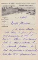 FRANCE:1923: Lettre Envoyée Des ## THERMES De DAX-LANDES – Eaux & Boues Thermales Naturelles ## Avec Vue Sur Les Landes - Sports & Tourisme