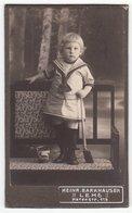 CDV Photo Format - Kinderfoto ± 1900 Niedliches Kleines Kind Im Matrosen Dress Enfant Child - Fotograf: Barkhausen, Lehe - Alte (vor 1900)