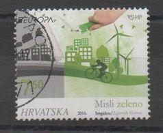 Croatia 2016, Used, Michel 1219, Europa, Think Green - Croatia