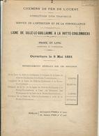 Chemins De Fer De L'Ouest Ligne De Sillé-le-Guillaume  à La Hutte-Coulombiers Profil En Long 1885 - Europe