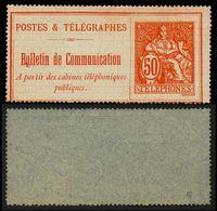 France Téléphone N° 18 Neuf (*) - Cote 140 Euros - TB Qualité - Télégraphes Et Téléphones