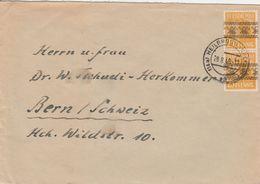 Allemagne Bizone Lettre Heilbronn Pour La Suisse 1948 - Zona Anglo-Americana