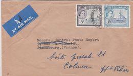Gambie Lettre Pour La France 1955 - Gambia (...-1964)