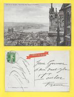 CPA GENEVE Vue Depuis Tours Saint Pierre  1912 - GE Ginevra