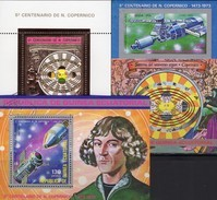 Gold-Blocks 1974 Äquat.Guinea Block 93,94+Bl.99 O 10€ Copernicus Blocs Sport M/s Space Sheets Bf Equator.Africa S/s - Stamps