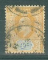 Ceylon: 1903/05   Edward    SG267    4c     Used - Ceylon (...-1947)