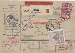 Allemagne Bulletin D'expédition Cleve Pour La Roumanie 1913 - Cartas