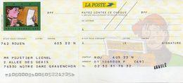 Chéque La POSTE - Tardi / Adèle Blanc Sec - Cheques & Traveler's Cheques
