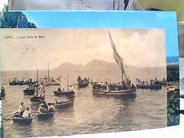 CAPRI E BARCHE  CON L'ISOLA VISTA DAL MARE VB1922  GR758 - Napoli (Naples)