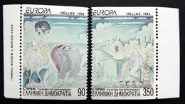 Griechenland 1829/0 C **/mnh, EUROPA/CEPT 1993, Zeitgenössische Kunst - Griekenland