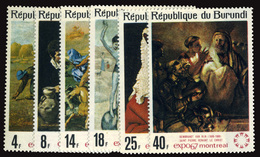 BURUNDI 1967 EXPO COMPLETE SET (Yvert 246-251) MNH ** - 1962-69: Mint/hinged