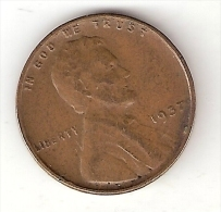 Usa 1 Cent 1937 Or* 39 Or 40 Or 41 Or 42 Tel My Witchs You Need  Km 132  Vf - Federal Issues