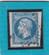 N° 14 A  ETOILE DE PARIS MUETTE    - REF 12118 + VARIETE + BDF+ VOISIN - 1853-1860 Napoléon III.