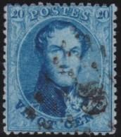Belgie    .     OBP   .      15B          .      O       .      Gebruikt   .     /     .    Oblitéré - 1863-1864 Médaillons (13/16)