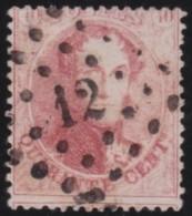 Belgie    .     OBP   .      16B          .      O       .      Gebruikt   .     /     .    Oblitéré - 1863-1864 Médaillons (13/16)