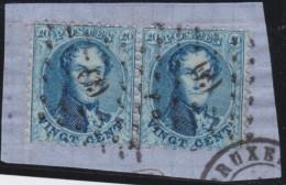 Belgie    .     OBP   .      15B  Paar          .      O       .      Gebruikt   .     /     .    Oblitéré - 1863-1864 Médaillons (13/16)