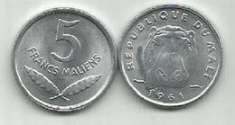 Mali 5 Francs Maliens 1961. High Grade - Mali (1962-1984)