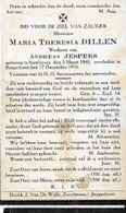 ZON10/ ° ZANDHOVEN 1840 + BORGERHOUT 1916 MARIA DILLEN - Religion & Esotericism