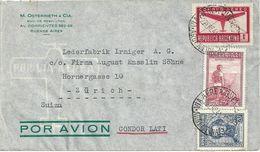 """Airmail Brief  """"Osterrieth, Buenos Aires"""" - Zürich          1941 - Argentine"""