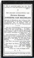 ZON10/ ° ALSEMBERG 1851 + BORGERHOUT 1918  PETRUS JANSSENS VAN MECHELEN - Religion & Esotericism