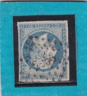 N° 14 Af Bleu Laiteux   PC  2955   SURESNES  /  SEINE     - REF 12118 + VARIETE  /  IND 9 - 1853-1860 Napoleon III