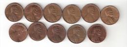 Usa 1 Cent 1968D Or 69D- 70-71D-72-D-73-D-74-D-76D     Km 201  COINS AR XF OR XF+!!!!!!!! - Émissions Fédérales