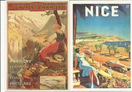 LOT 2 CARTES  TOURISTIQUE NICE CHAMONIX    N°  53 - Advertising