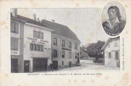 Cpa-sui-boudry-maison Ou Naquit J.P. Marat-editeur Pattini - NE Neuchâtel