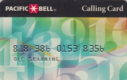 United States, US-PAC-PER-0002, PACIFIC BELL Personal Calling Card, 2 Scans. - Other