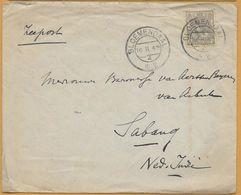 8Nb-950: N° 62: BLOEMENDAAL 15.II.4n  4  1922 > Sabang : 20.3.22 : Zeepost - Periode 1891-1948 (Wilhelmina)